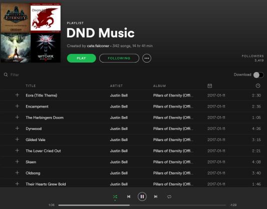 Dnd music